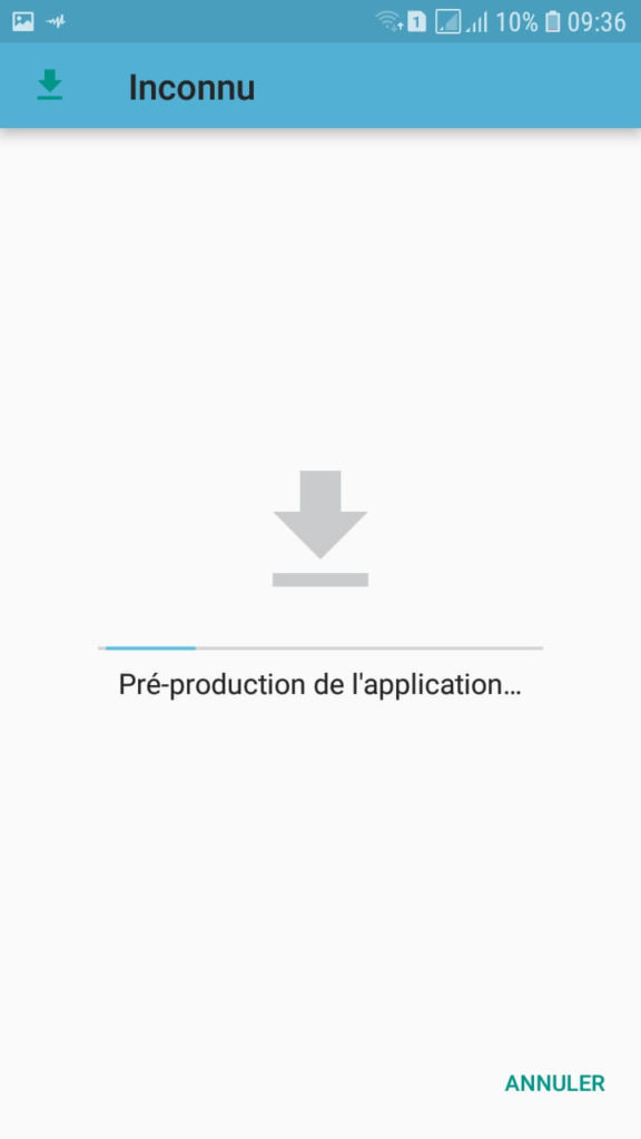 Installation APK Sources Inconnues