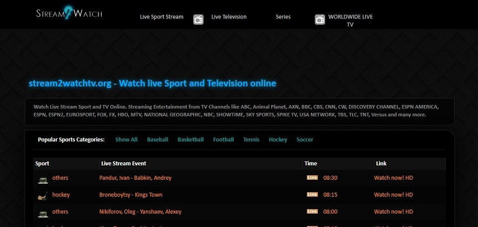 Stream2Watch : L'un des meilleurs sites pour regarder un match de football